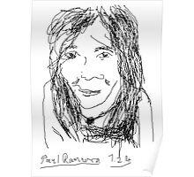 Female Head portrait V1: Oun Phea -(070214)- Digital artwork/MS Paint Poster