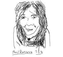 Female Head portrait V1: Oun Phea -(070214)- Digital artwork/MS Paint Photographic Print