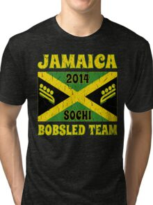 Vintage 2014 Jamaican Bobsled Team Sochi Olympics T Shirt Tri-blend T-Shirt