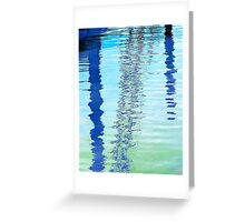 Blue Abstract Reflection Greeting Card