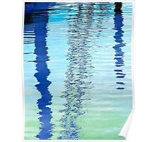 Blue Abstract Reflection Poster