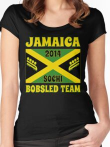 2014 Jamaican Bobsled Team Sochi Olympics T Shirt Women's Fitted Scoop T-Shirt