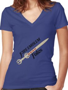 Fire Emblem Fates - Sword - Yato Women's Fitted V-Neck T-Shirt