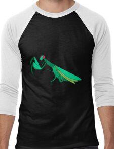 Cute Praying Mantis Men's Baseball ¾ T-Shirt