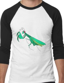 Cute Praying Mantis Men's Baseball ¾ T-Shirt
