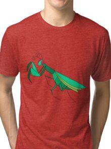 Cute Praying Mantis Tri-blend T-Shirt