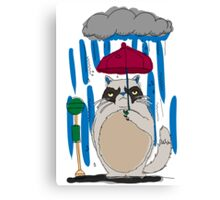 my neighbor grumpy cat Canvas Print