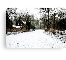 Winter's Long Walk Home Canvas Print
