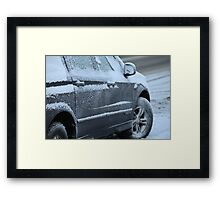 snowy car Framed Print