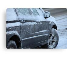 snowy car Canvas Print