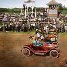 Car - Race - On the edge of their seats 1915 by Mike  Savad