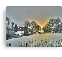 And Then Came the Snow Canvas Print