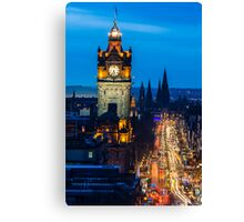 Prince's Street at Blue Hour Canvas Print