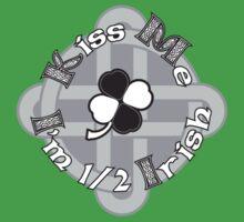 Kiss Me, I'm 1/2 Irish Kids Tee