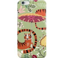 Tiger garden - green iPhone Case/Skin