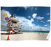 Candy Stripe Lifeguard House 2 Poster