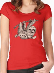 Festina Lente Three-Toed Sloth Women's Fitted Scoop T-Shirt