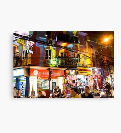 hanoi by night Canvas Print