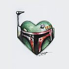 Boba Fett Star Wars Heart by samskyler