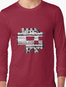 Glitch Skull Long Sleeve T-Shirt