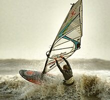 Lyme Bay Windsurfer by SWEEPER