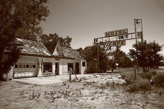 Route 66 - Glenrio, Texas by Frank Romeo