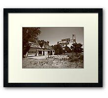 Route 66 - Glenrio, Texas Framed Print