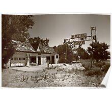 Route 66 - Glenrio, Texas Poster