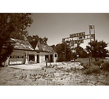 Route 66 - Glenrio, Texas Photographic Print