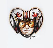 Luke Skywalker Star Wars Heart by samskyler