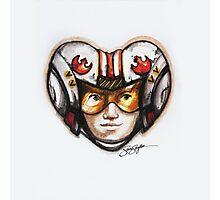 Luke Skywalker Star Wars Heart Photographic Print