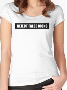 Reject False Icons Women's Fitted Scoop T-Shirt