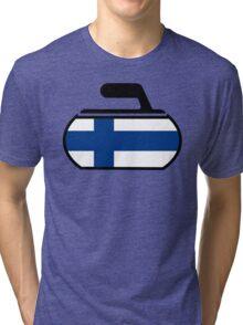 Finland Curling Tri-blend T-Shirt