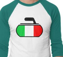 Italy Curling Men's Baseball ¾ T-Shirt