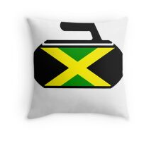 Jamaican Curling  Throw Pillow