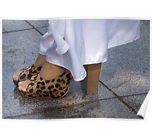 leopard shoes Poster