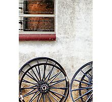 Amish Wheels Photographic Print