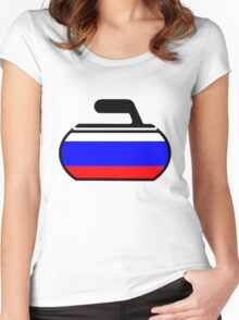 Russian Curling Women's Fitted Scoop T-Shirt