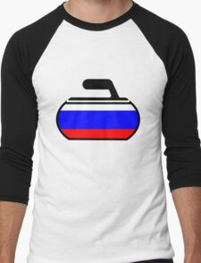 Russian Curling Men's Baseball ¾ T-Shirt