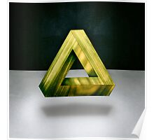 Penrose Triangle Green Poster