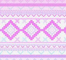 Pink Aztec print by MZawesomechic