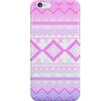 Pink Aztec print iPhone Case/Skin