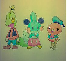 The hoenn starters as Mickey, Donald and Goofy!  Photographic Print
