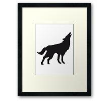 Wolf Howling Dog Framed Print