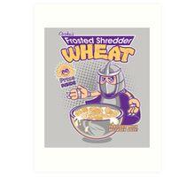 Shredder Wheat Art Print