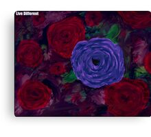 Live Different - Floral Canvas Print