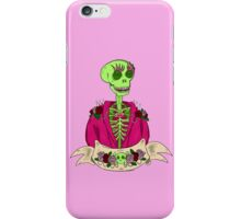 Spooky Stylish Skeleton- Pink iPhone Case/Skin