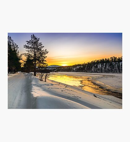 Sunrise in Arctic Norway Photographic Print