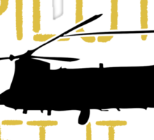 Up Faster Chinook Sticker
