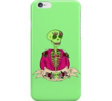 Spooky Stylish Skeleton- Green iPhone Case/Skin